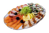 Sliced fish — Stock Photo