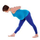 Yoga for pregnant woman — Stock Photo