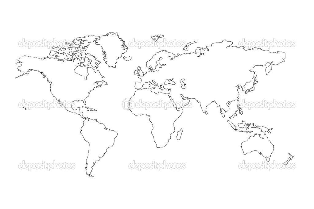 Weltkarte Umrisse