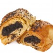 Pastries with poppy seeds isolated — Foto de Stock