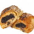 Pastries with poppy seeds isolated — Stock fotografie