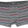 Striped men's boxer briefs isolated — Stock Photo #12707477