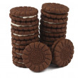 Stock Photo: Chocolate cream cookies