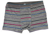 Striped men's boxer briefs isolated — Photo