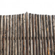 Picket fence isolated — Stock Photo