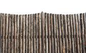 Picket fence isolated — Stock Photo