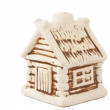 Homemade house figurine isolated - Stok fotoraf