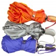 Rain umbrellas isolated - Stok fotoraf