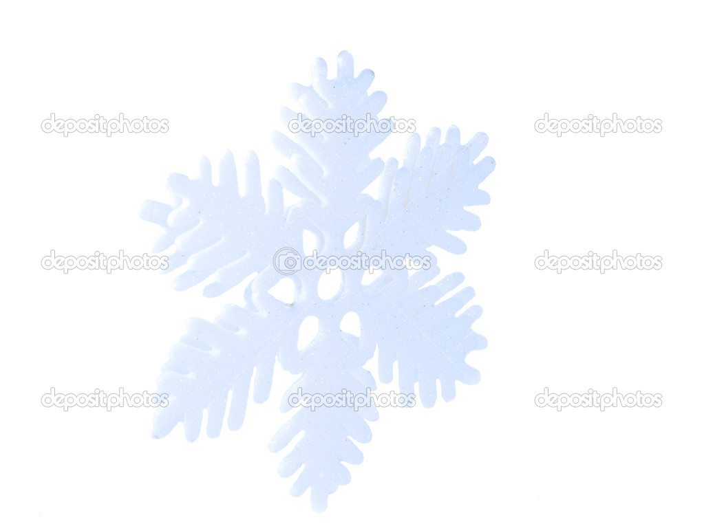 Snowflake isolated on white background — Stock Photo #13433197