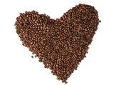 Coffee beans heart — Stock Photo