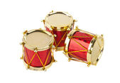 Christmas drum isolated — Foto de Stock