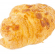 Croissant with nuts isolated  — Stock Photo