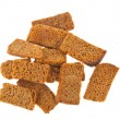 Rye crackers isolated — Stock Photo