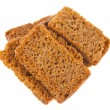 Rye crackers isolated — Stock Photo #15189593