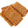 Stock Photo: Rye crackers isolated