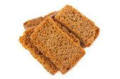 Rye crackers isolated — Stock Photo