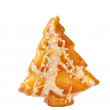 Christmas tree cookies isolated — Stock Photo
