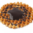 Waffles with chocolate isolated — Foto Stock