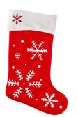 传统毛皮红色圣诞袜 — 图库照片