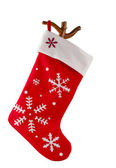Traditionele bont rode christmas stocking — Stockfoto