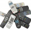 TV remote control isolated — Stock Photo #16808583