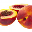 Juicy peach isolated — Stock Photo