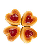 Muffins heart isolated — Stock Photo