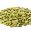 Dry green peas isolated — Stock Photo