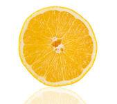 Slice of fresh lemon isolated — Stock Photo