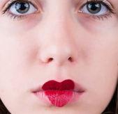 Close-up portrait woman — Stock Photo