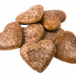 Stock Photo: Heart cookies isolated