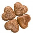Heart cookies isolated — Stock Photo