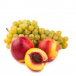 Grape and peach — Stock Photo #19318275