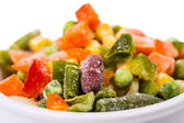 Frozen vegetables mix — Stockfoto