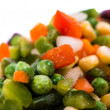Stock Photo: Frozen vegetables mix