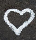 Kreslení srdce — Stock fotografie