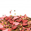 Sprinkle with heart decoration — Stock Photo