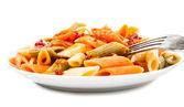 Cooking Italian pasta isolated — Stock Photo