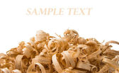 Wood chips isolated — Stock Photo