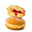Donuts with filling — Stock Photo