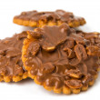 Cookies with chocolate and nuts — Stock Photo
