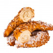 Stock Photo: Croissants with nuts isolated