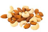 Mixed nuts - hazelnuts, walnuts, almonds, pine nuts — Photo