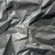 Stock Photo: Crumpled black paper