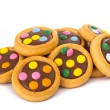 Chocolate cookies with colorful sprinkles — 图库照片