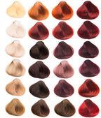 Próbki włosów — Zdjęcie stockowe