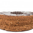 Chocolate cake isolated — Stock Photo