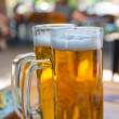 Two beer mugs close-up — Stock Photo #25207043