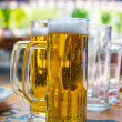 Two beer mugs close-up — Stock Photo #25449063