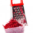 The composition of the grated beets. — Stockfoto